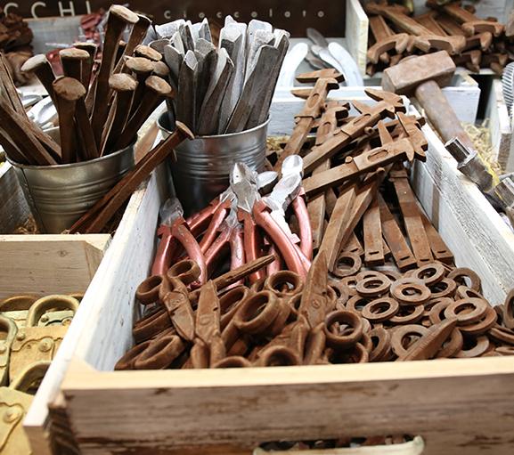 ferri vecchi di cioccolato